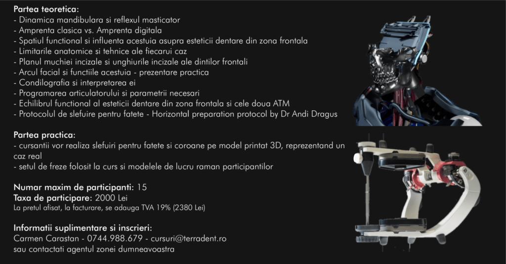 Fatete dentare condilografiate, horizontal preparation protocol